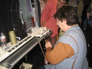 Lois demo-ing on a standard gauge machine.